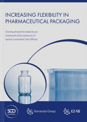 Increasing flexibility in pharmaceutical packaging for aseptic filling